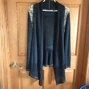 Miss Me beautiful gray, lace details cardigan